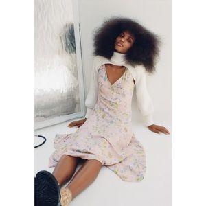 Zara Printed Floral Midi Dress